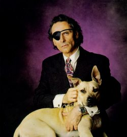 Andrew Vachss and Honey Pit Bull, photograph courtesy of Ellery Queen's Mystery Magazine
